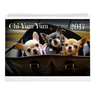 Calendário 2017 do qui Yum Yum