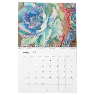 Calendário 2017 do Succulent