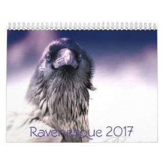 Calendário 2017 mágico do corvo
