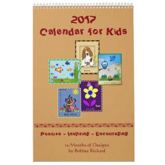 Calendário 2017 para miúdos