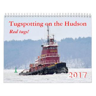 Calendário 2017 reboquees do vermelho do calendário!