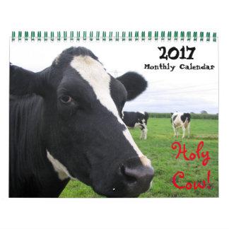 Calendário 2017 vacas mensais do gado das bezerras do