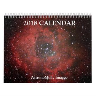 Calendário 2018 da astronomia