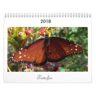 Calendário 2018 da borboleta