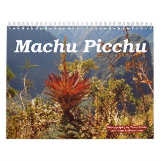 Calendário 2018 da flor - calendário de Machu