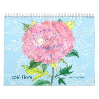 Calendário 2018 da flora