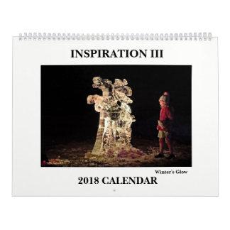 Calendário 2018 da fotografia
