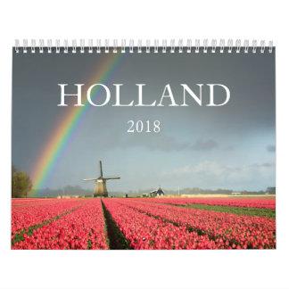 Calendário 2018 da fotografia da paisagem de