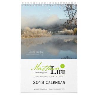 Calendário 2018 da vida de Mattawa - inglês
