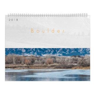 Calendário 2018 de Boulder Colorado