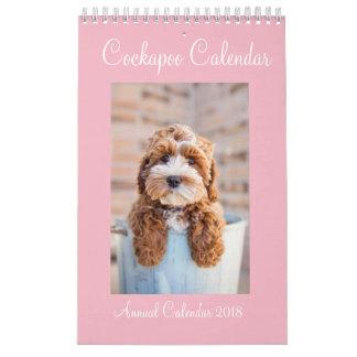 Calendário 2018 de Cockapoo