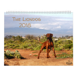 Calendário 2018 de Liondog - de Rhodesian