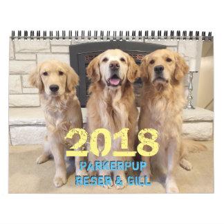 Calendário 2018 de ParkerPup