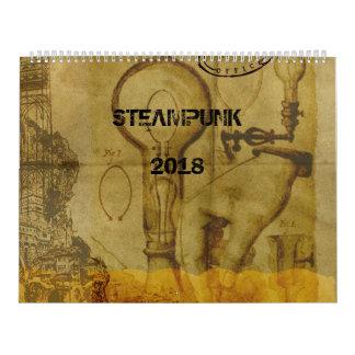 Calendário 2018 de Steampunk