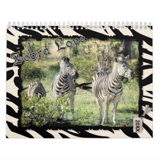 Calendário 2018 do amor da zebra