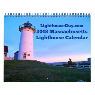 Calendário Calendário 2018 do farol de Massachusetts