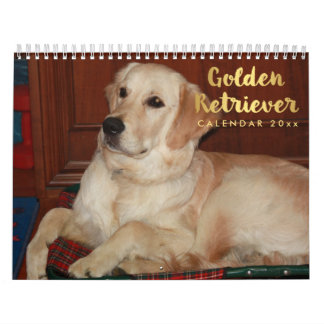 Calendário 2018 do golden retriever