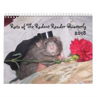 Calendário 2018 do leitor do roedor E
