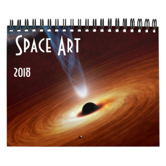 Calendário 2018 do universo da astronomia da arte