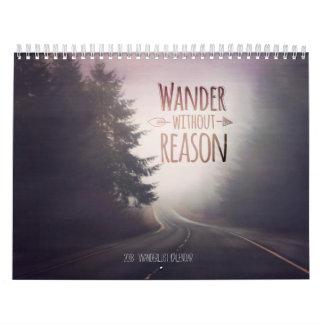 Calendário 2018 do viagem do Wanderlust