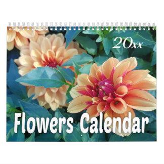 Calendário 2018 flores coloridas