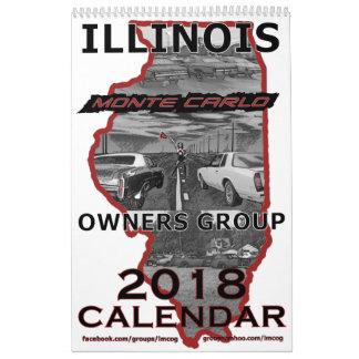 """Calendário """"2018"""" Illinois Monte - os proprietários de Carlo"""