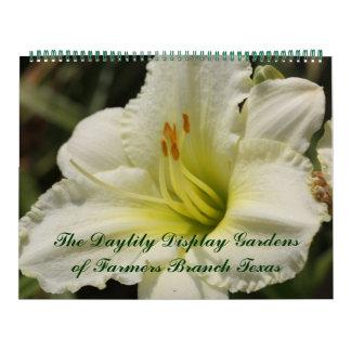 Calendário 2018 jardins da exposição do lírio de dia