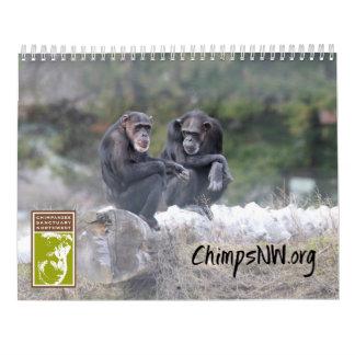 Calendário 2018 para o santuário do chimpanzé