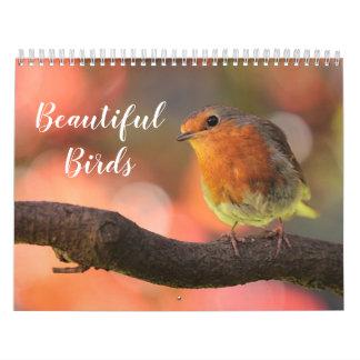Calendário 2018 pássaros bonitos