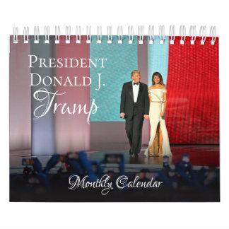 Calendário 2018 pequeno do presidente Donald Trump