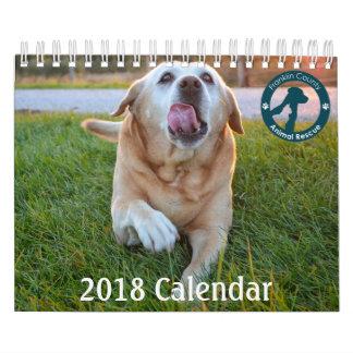 Calendário 2018 salvamento animal de Franklin Co. dos apoios