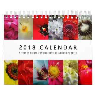 Calendário 2018: Um ano na flor