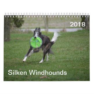 Calendário 2018 Windhounds macios (na ação)