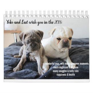 Calendário 2018 yoko e kalender east