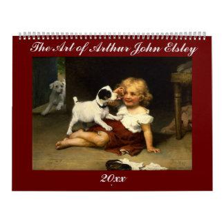 Calendário A arte de Arthur John Elsley