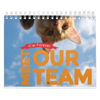 Calendário A equipe ICat Calendar para sempre