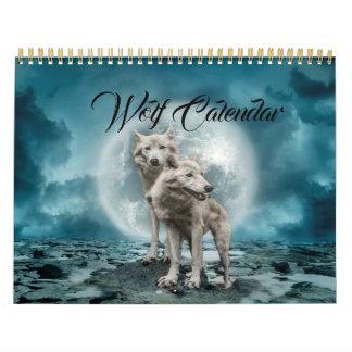 Calendário A lua do uivo do lobo Stars os destinos Home do