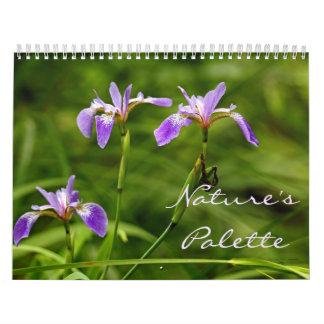 Calendário - a paleta da natureza