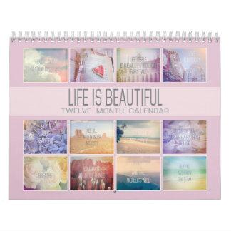 Calendário A vida é fotos inspiradas bonitas do Pastel de |