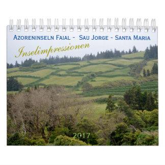 Calendário Açores para férias