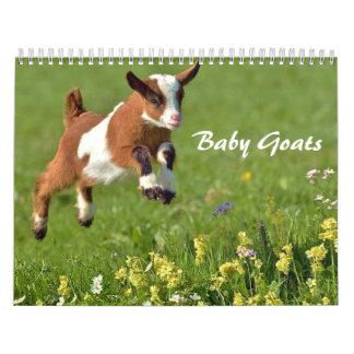 Calendário adorável das cabras do bebê