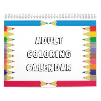 Calendário adulto da coloração