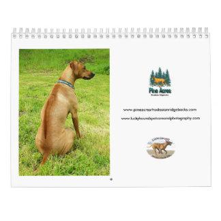 Calendário afortunado 2017 de Rhodesian Ridgeback