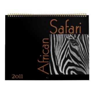 Calendário africano do safari