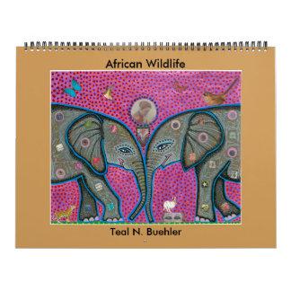Calendário africano dos animais selvagens