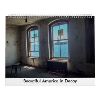 Calendário América bonita na deterioração