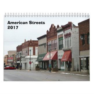 Calendário americano das ruas - 2017
