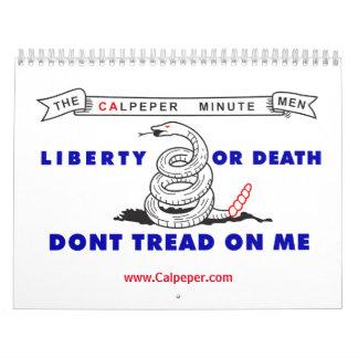 Calendário americano do patriota de Calpeper®