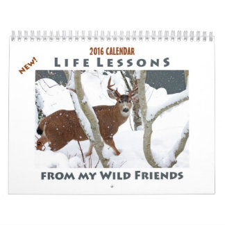 Calendário animal 2016 - lições novas da vida