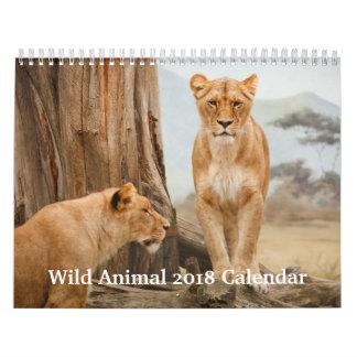 Calendário Animal selvagem 2018